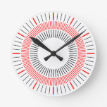 Concentric Rays 03 Wall Clock