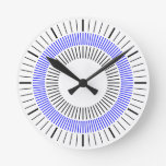 Concentric Rays - Blue Clock