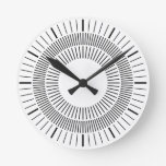 Concentric Rays Round Wall Clocks