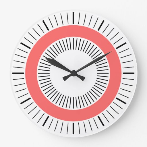 Concentric Rays - Tropical Pink Clock