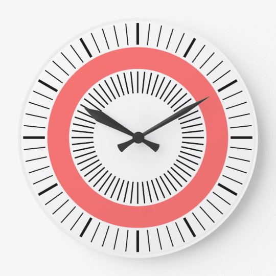 Concentric Rays - Tropical Pink Large Clock