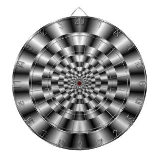 Concentric Rings in Monochrome Dartboard