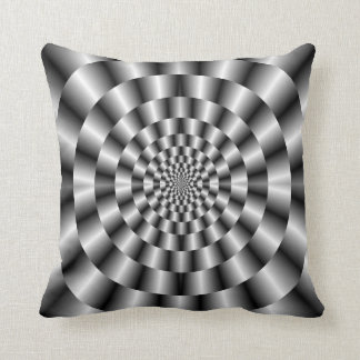 Concentric Rings in Monochrome Pillows