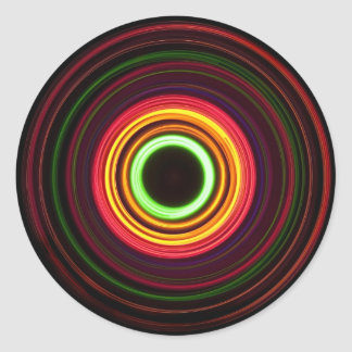 Concentric rings of light - classic round sticker