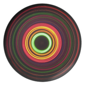 Concentric rings of light - party plate