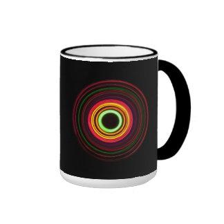 Concentric rings of light - ringer mug