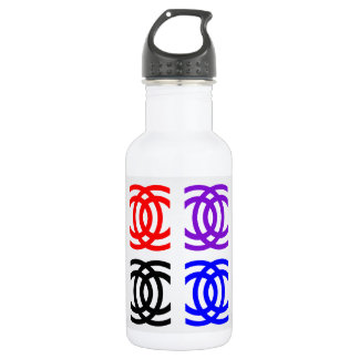 concentric rings stainless steel water bottle
