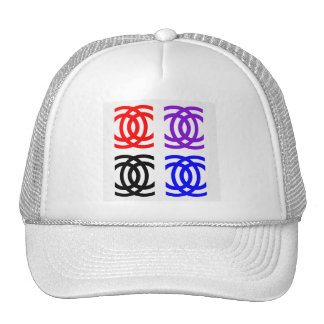 concentric rings trucker hat