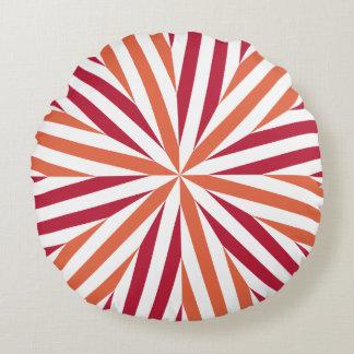 Concentric Stripes Samba Round Pillow