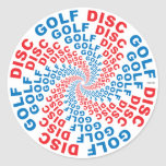 Concentric Text #1 Classic Round Sticker