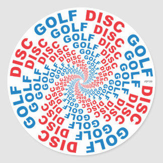 Concentric Text #1 Stickers