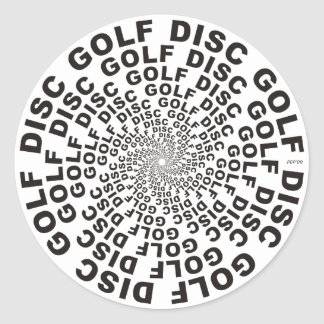 Concentric Text #2 Classic Round Sticker