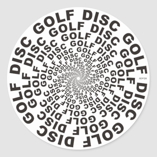 Concentric Text #2 Round Stickers