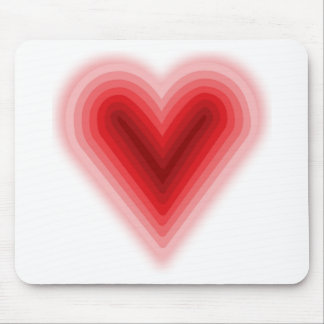 Concentric Valentine's Day Heart with Gradient Mouse Pads