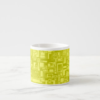 Concentric Yellow Geometric Abstract Art Espresso Cup