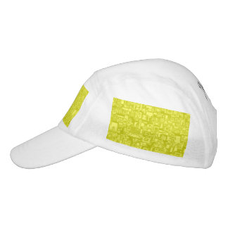 Concentric Yellow Geometric Abstract Art Hat