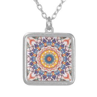 Concentricity 4 square pendant necklace
