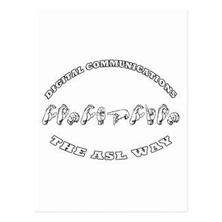 Concepción - The ASL WAY - DIGITAL COMMUNICATIONS Postcard