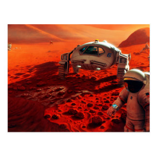 Concept Art of Future Manned Mars Mission Postcard