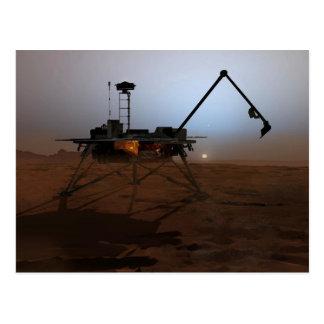 Concept Art of Phoenix Mars Lander at Twilight Postcard