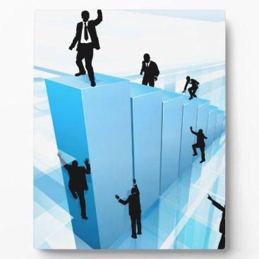 Concept Business People Silhouettes Success Plaque