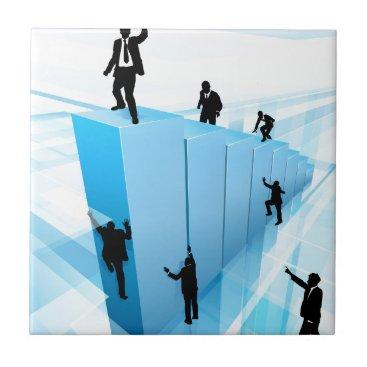 Concept Business People Silhouettes Success Tile