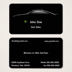 Concept Car Auto Sales Business Card at Zazzle