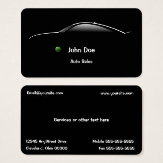 Concept Car Auto Sales Business Card