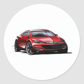 Concept Car Classic Round Sticker