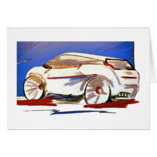 Concept car greeting birthday card