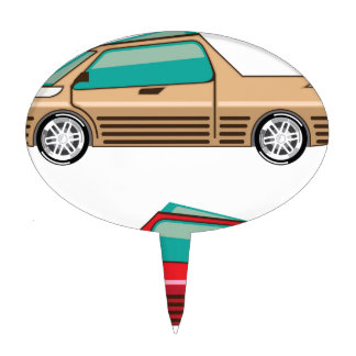 Concept car vector Self driving vehicle Cake Topper