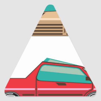 Concept car vector Self driving vehicle Triangle Sticker