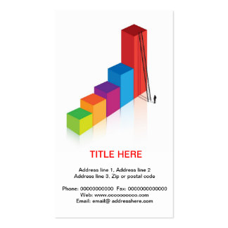 concept for ambition and determination business card