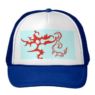 Concept icy red trucker hat