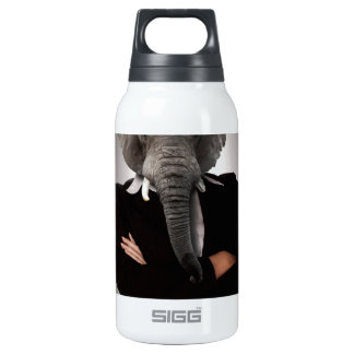 Concept image of a businesswoman. insulated water bottle