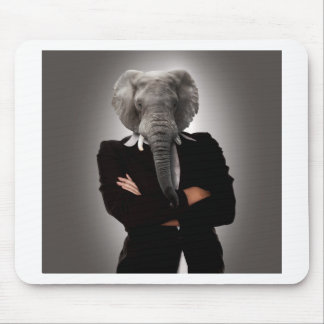 Concept image of a businesswoman. mouse pad