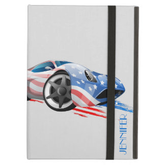 Concept Muscle Car In American Flag Colors Case For iPad Air