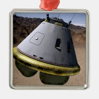 Concept of a crew exploration vehicle square metal christmas ornament