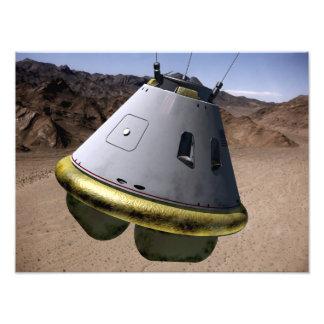 Concept of a crew exploration vehicle photo print