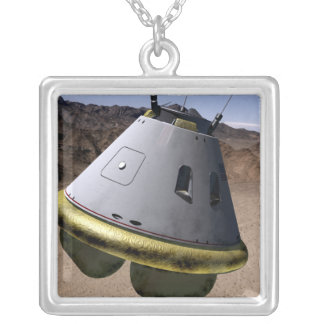 Concept of a crew exploration vehicle silver plated necklace
