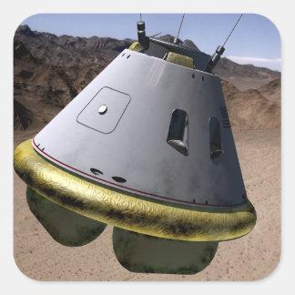 Concept of a crew exploration vehicle square sticker