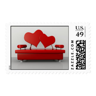 Concept Sofa Postage Stamp