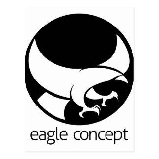 Concepto abstracto del círculo del águila tarjetas postales