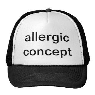 concepto alérgico gorros