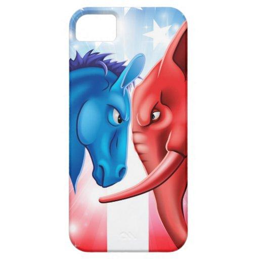 Concepto americano de la política iPhone 5 cárcasas