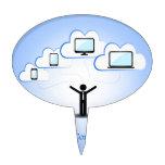 Concepto computacional de la nube palillos de tarta