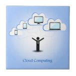 Concepto computacional de la nube azulejo