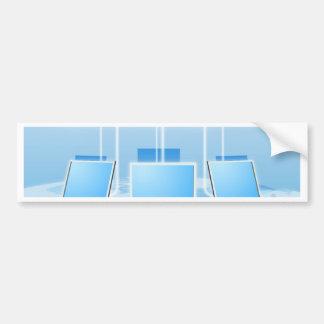 Concepto computacional de la nube pegatina de parachoque
