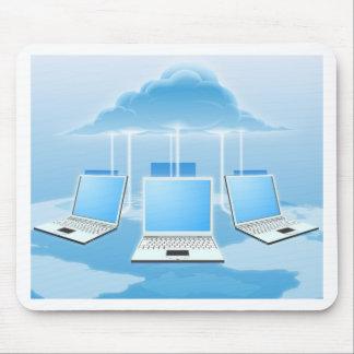 Concepto computacional de la nube tapete de ratón