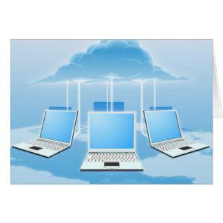 Concepto computacional de la nube tarjetas